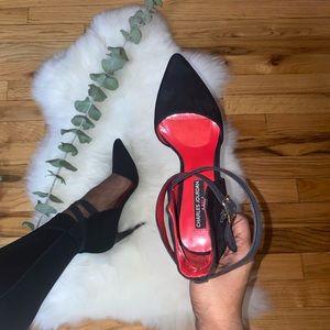 Charles Jourdan Black Heels with Straps